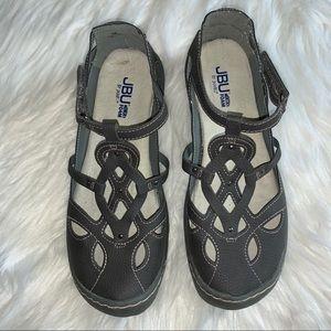 Women's JBU by Jambu Gray Sydney Sandals Size 9